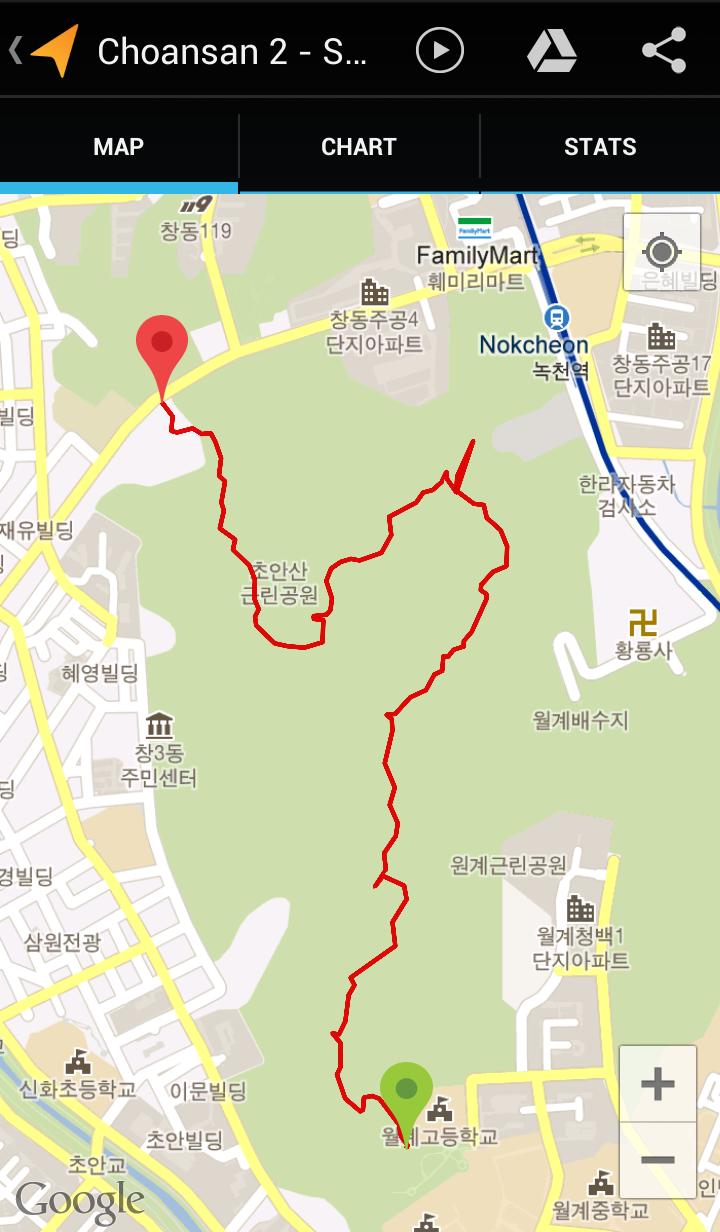 Choansan (1:03:40, 3.17 km)