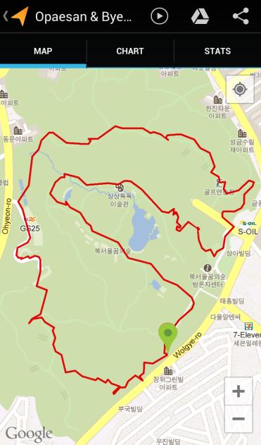 Opaesan & Byeogosan (1:36:41, 4.23 km)