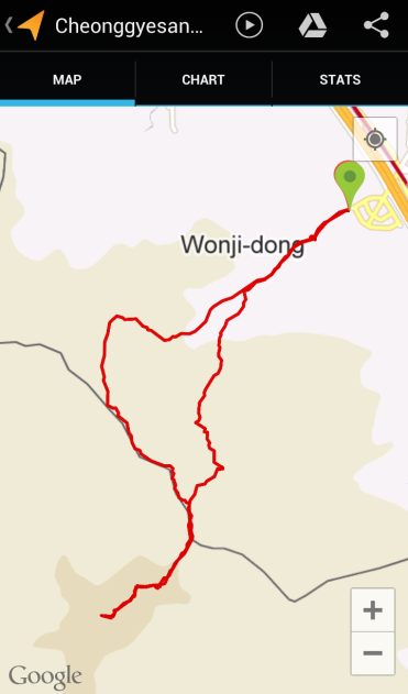 Cheonggyesan (2:37:47, 5.94 km)