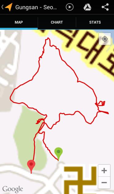 Gungsan (50:50, 1.57 km)
