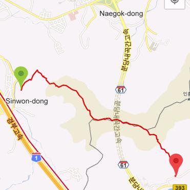 Inneungsan (1:34:05, 3.78 km)
