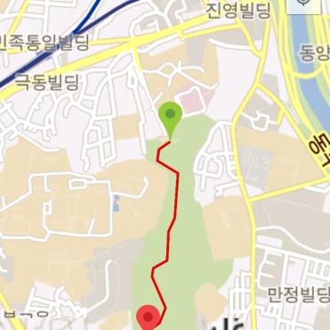 Baebongsan (32:12, 1.25 km)