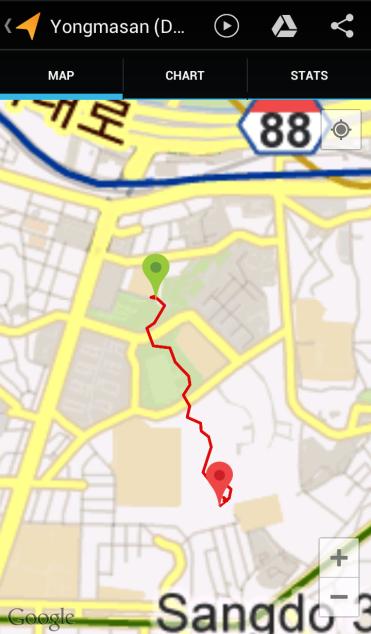 Yongmasan - Daebang (31:35, 1.14 km)